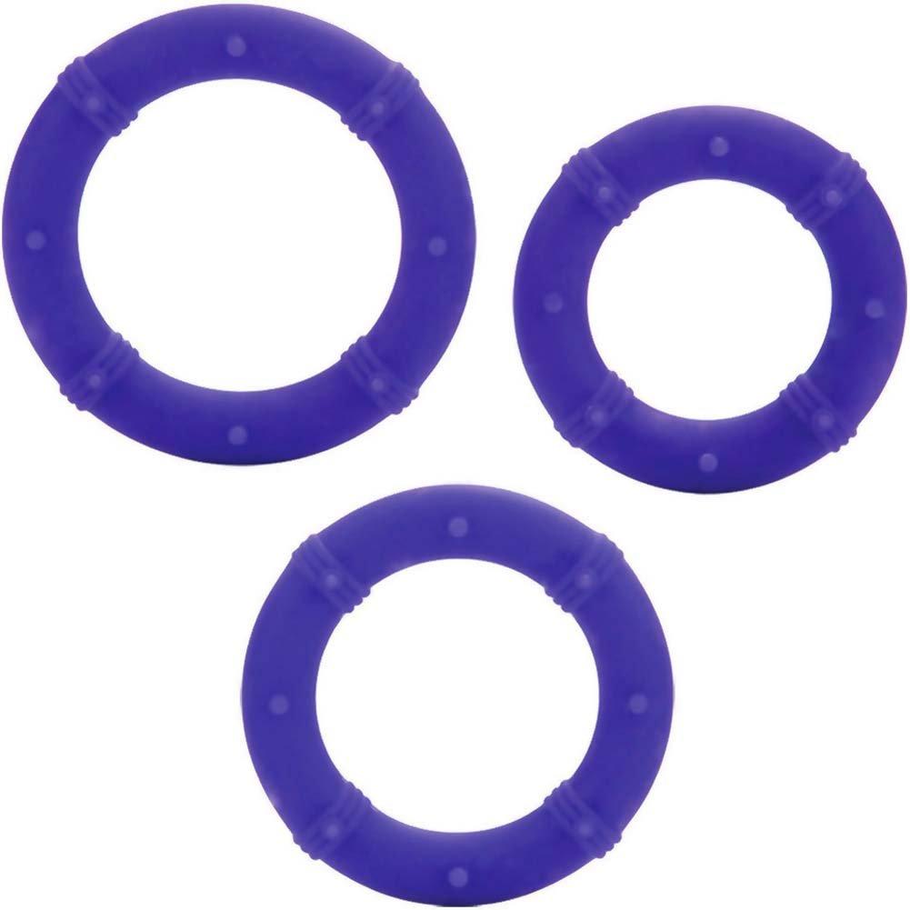Posh Silicone Love Rings Set Purple - View #3