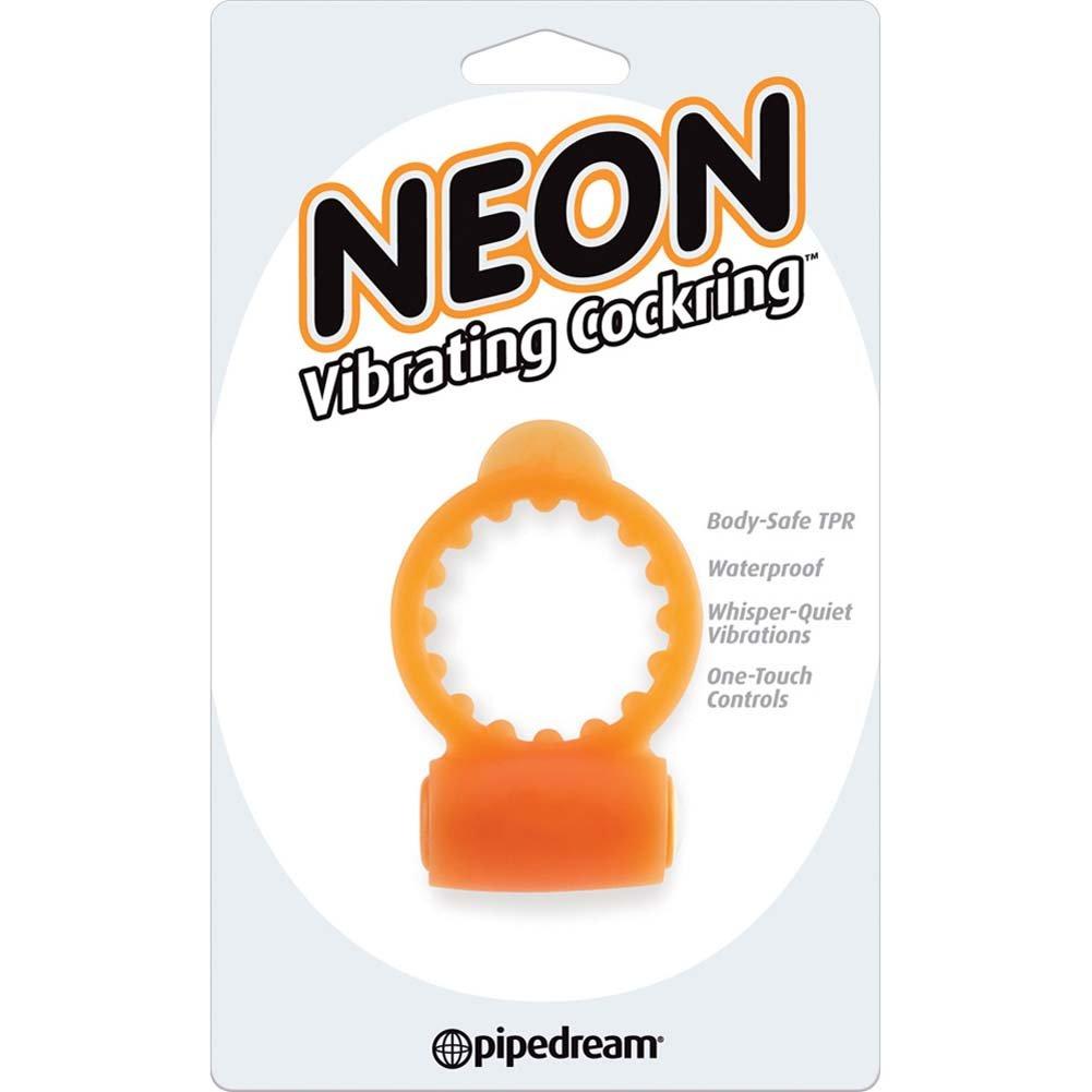 Neon Vibrating Cockring Orange - View #1