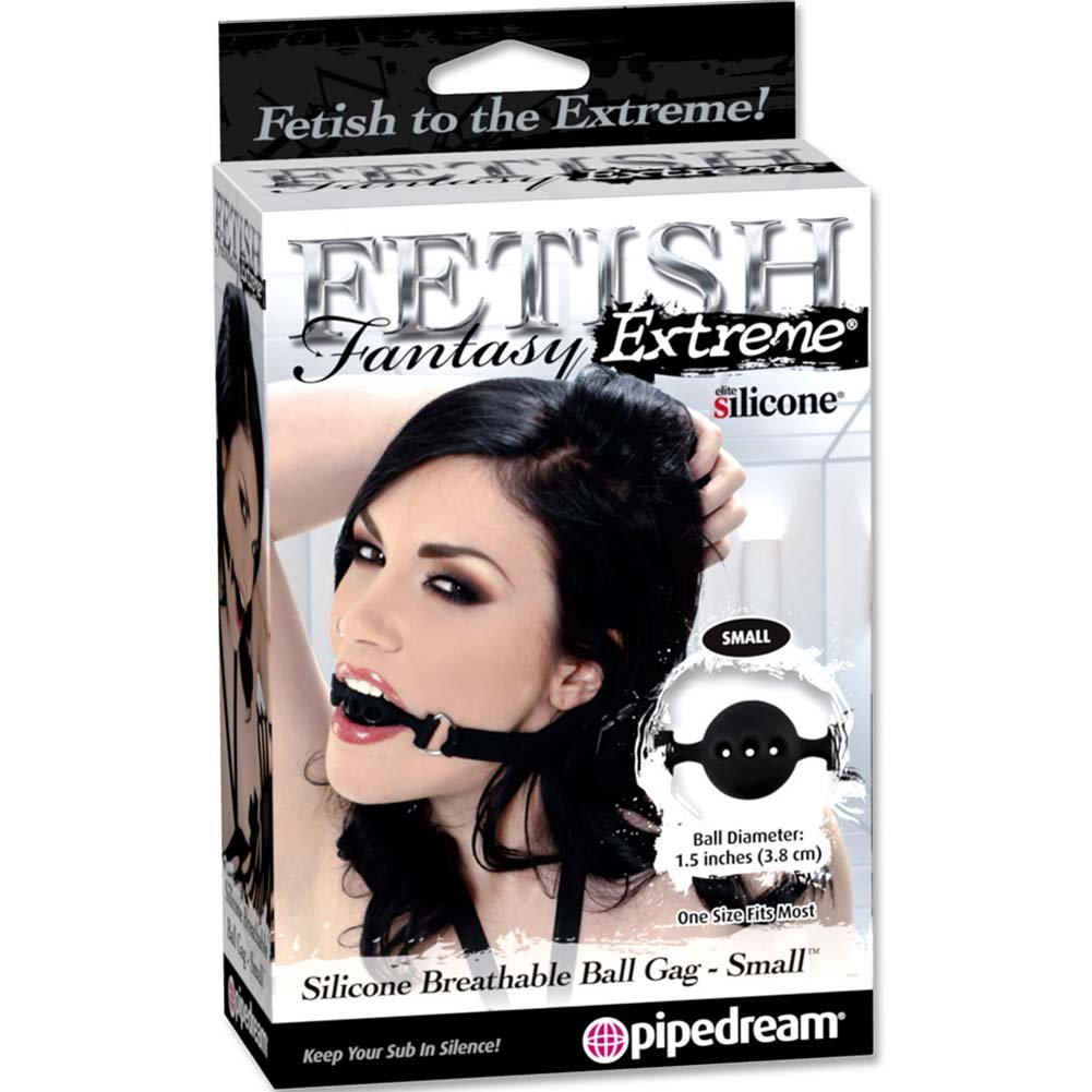 Fetish Fantasy Extreme Silicone Breathable Ball Gag Small Black - View #3