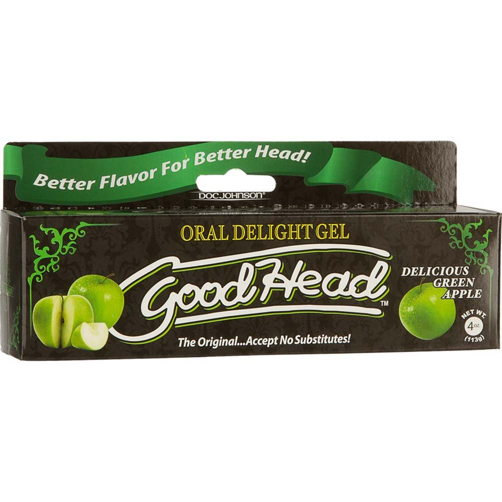 GoodHead Oral Delight Gel for Lovers 4 Ounce 113 G Green Apple - View #1