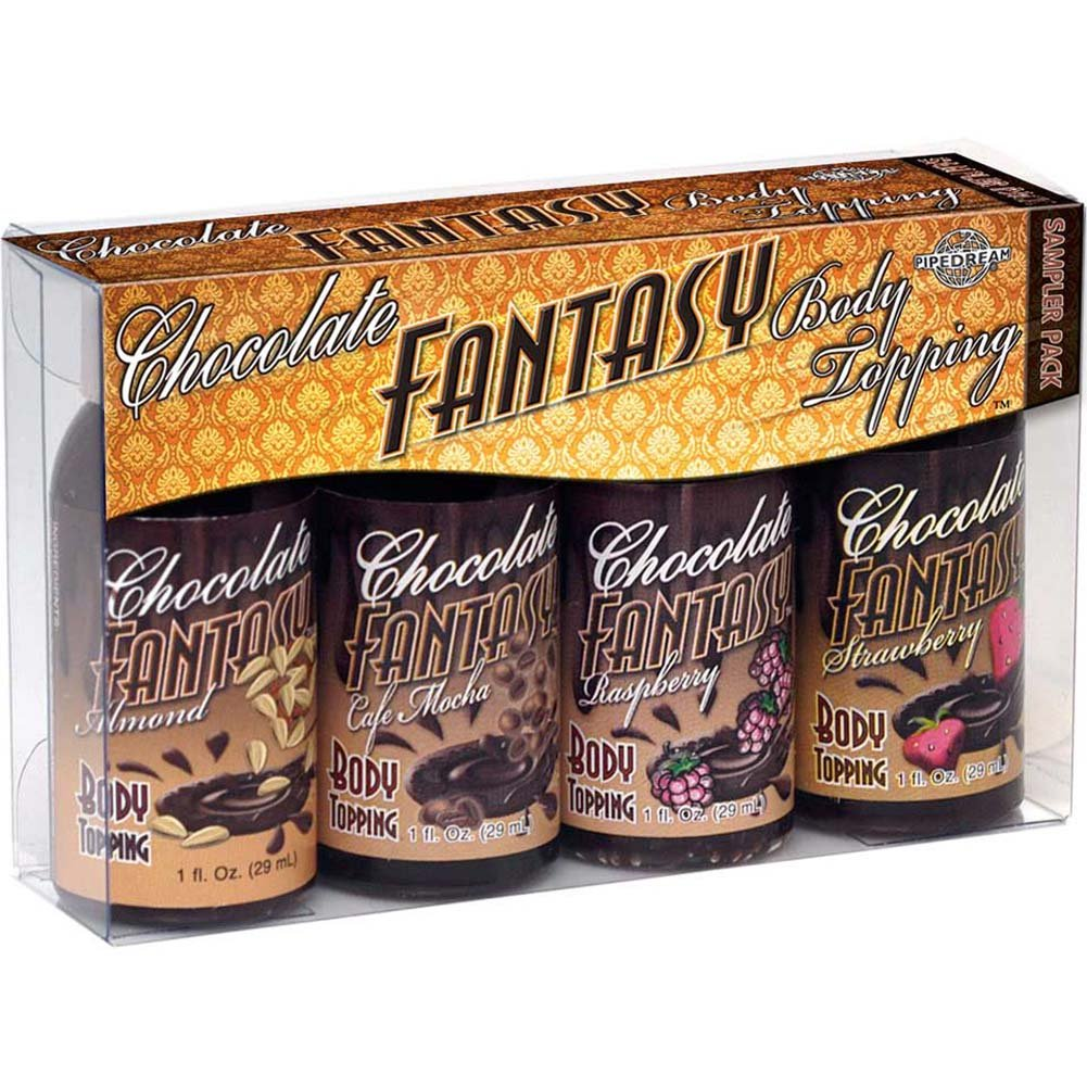 Chocolate Fantasy Body Topping Sampler 4 Pack 1 Fl.Oz 30 mL Bottles - View #1