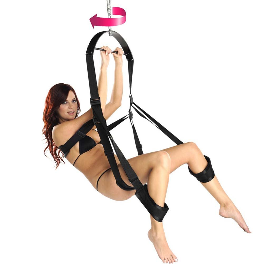 Trinity 360 Spinning Sex Swing Black - View #2