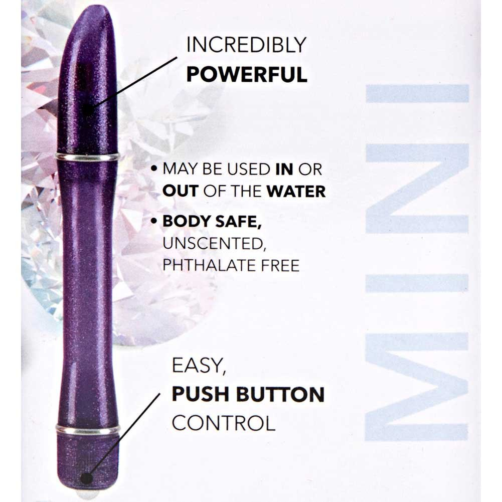 "California Exotics Waterproof Pixies Pinpoint Intimate Vibrator 5.75"" Purple - View #1"
