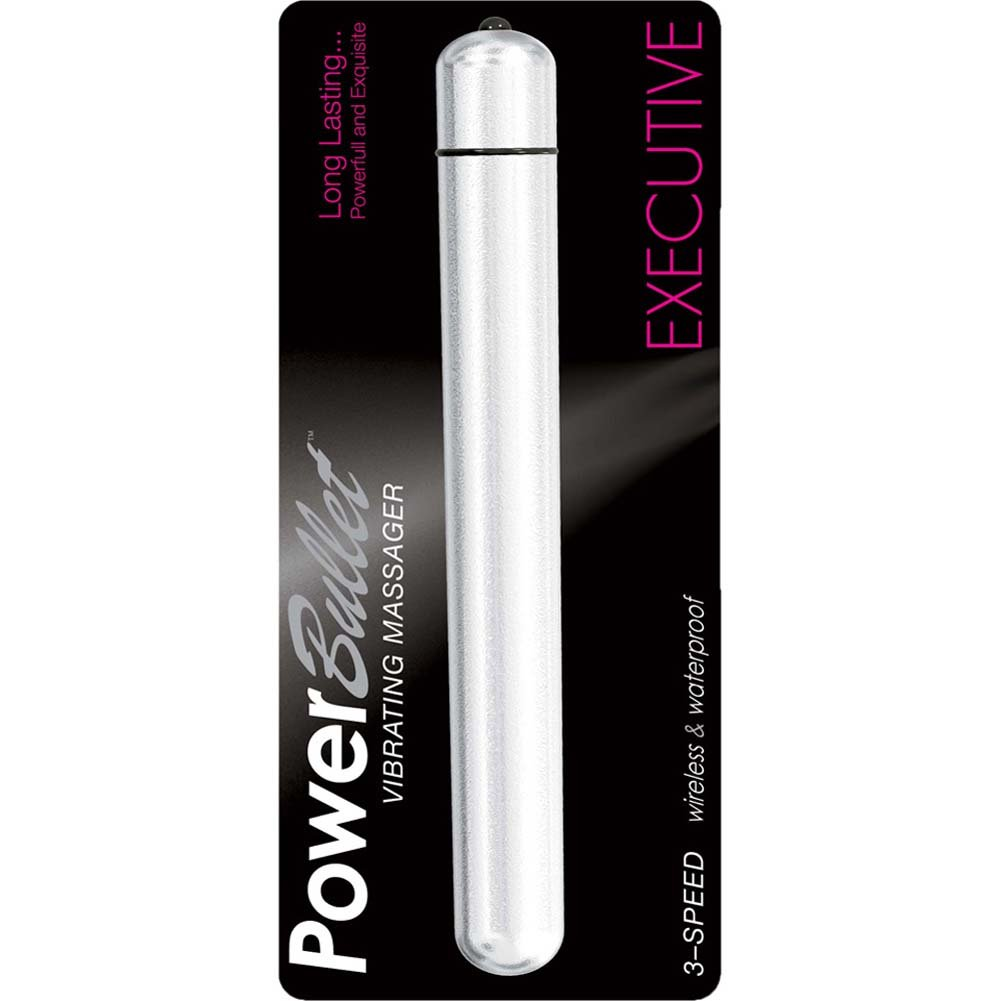 "PowerBullet Executive Waterproof Vibrator 5"" Silver - View #1"