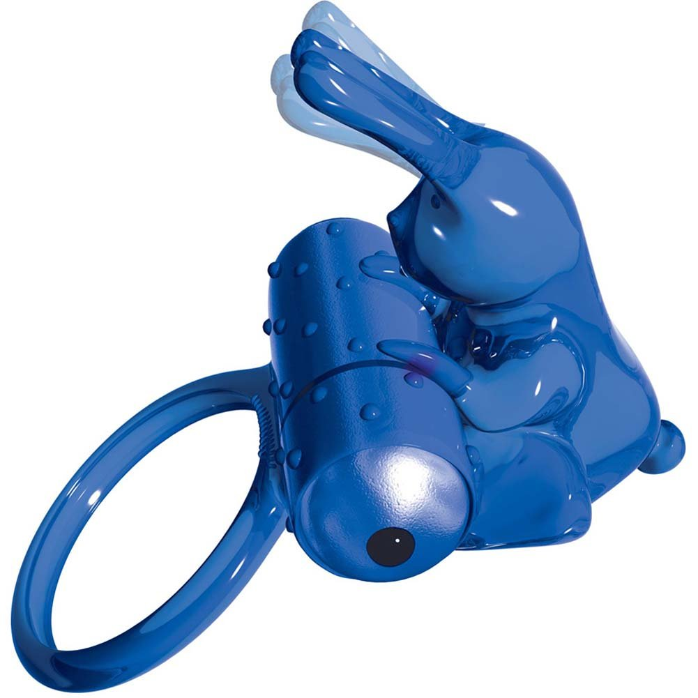 PowerBullet Buzz Bunny Vibrating Multispeed Cock Ring Blue - View #3