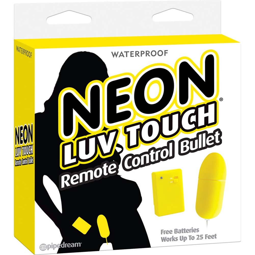 "Neon Luv Touch Remote Control Bullet Vibe 3.25"" Yellow - View #1"