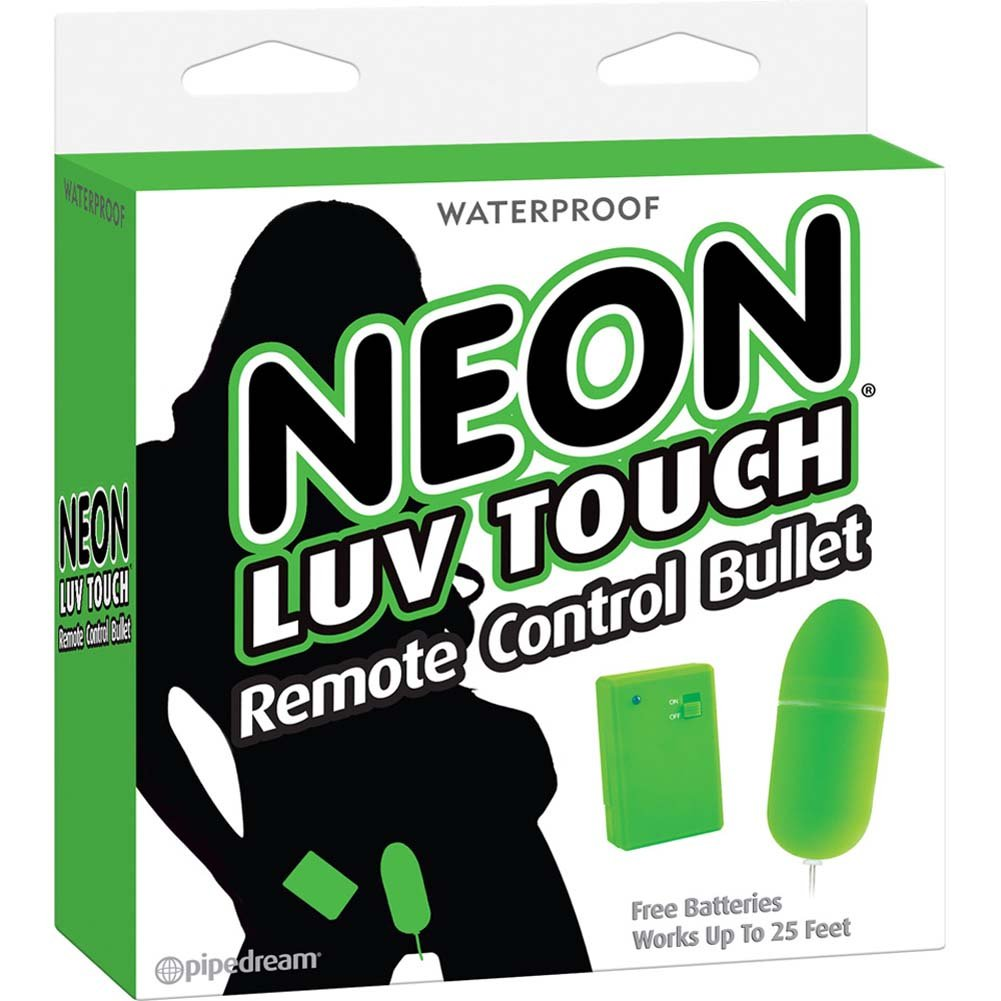 "Neon Luv Touch Remote Control Bullet 3.25"" Green - View #1"