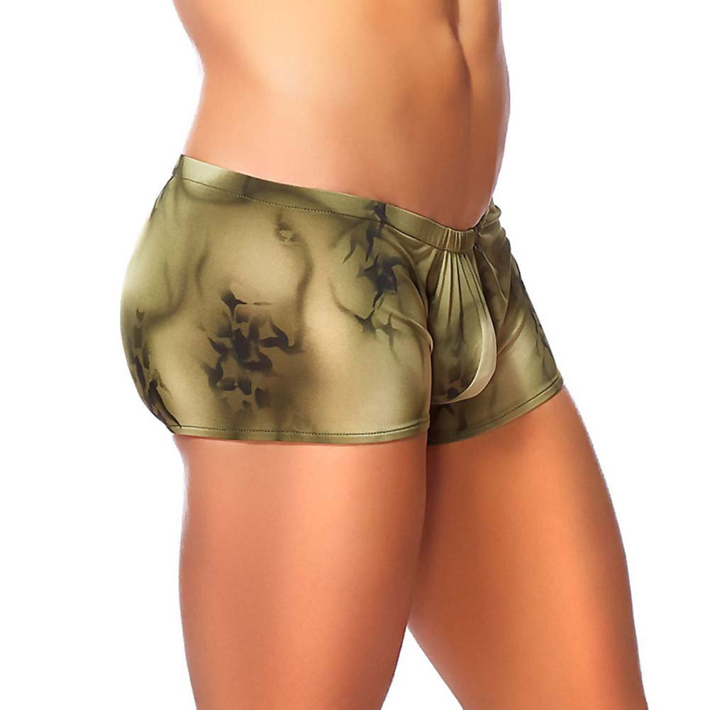 Male Power Skyview Pouch Short Large Olive - View #1