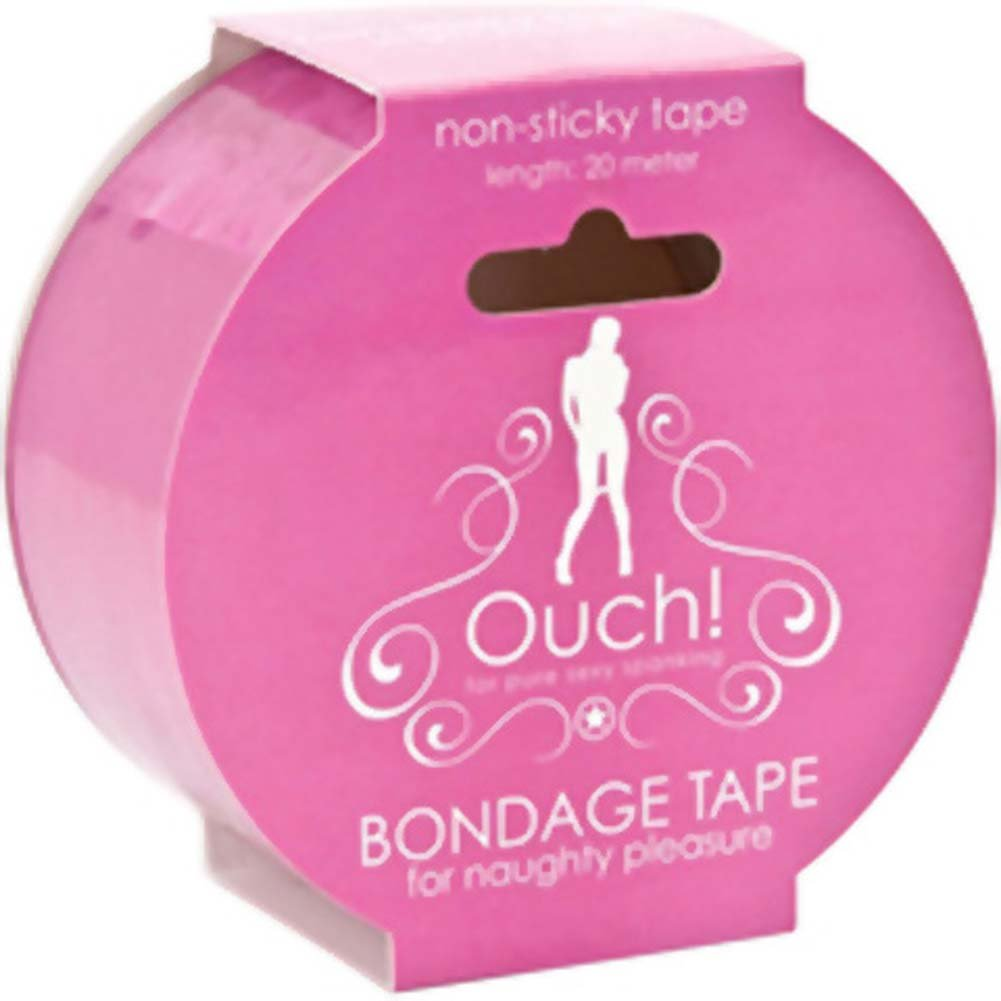 Ouch Non Sticky Bondage Tape 65 Feet Pink - View #2