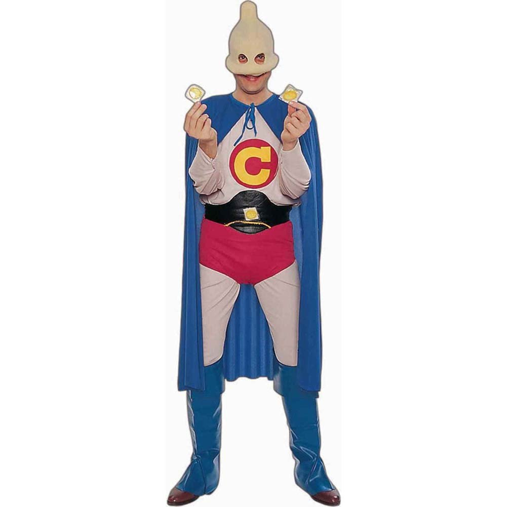 Captain Condom Adult Costume for Men - View #1