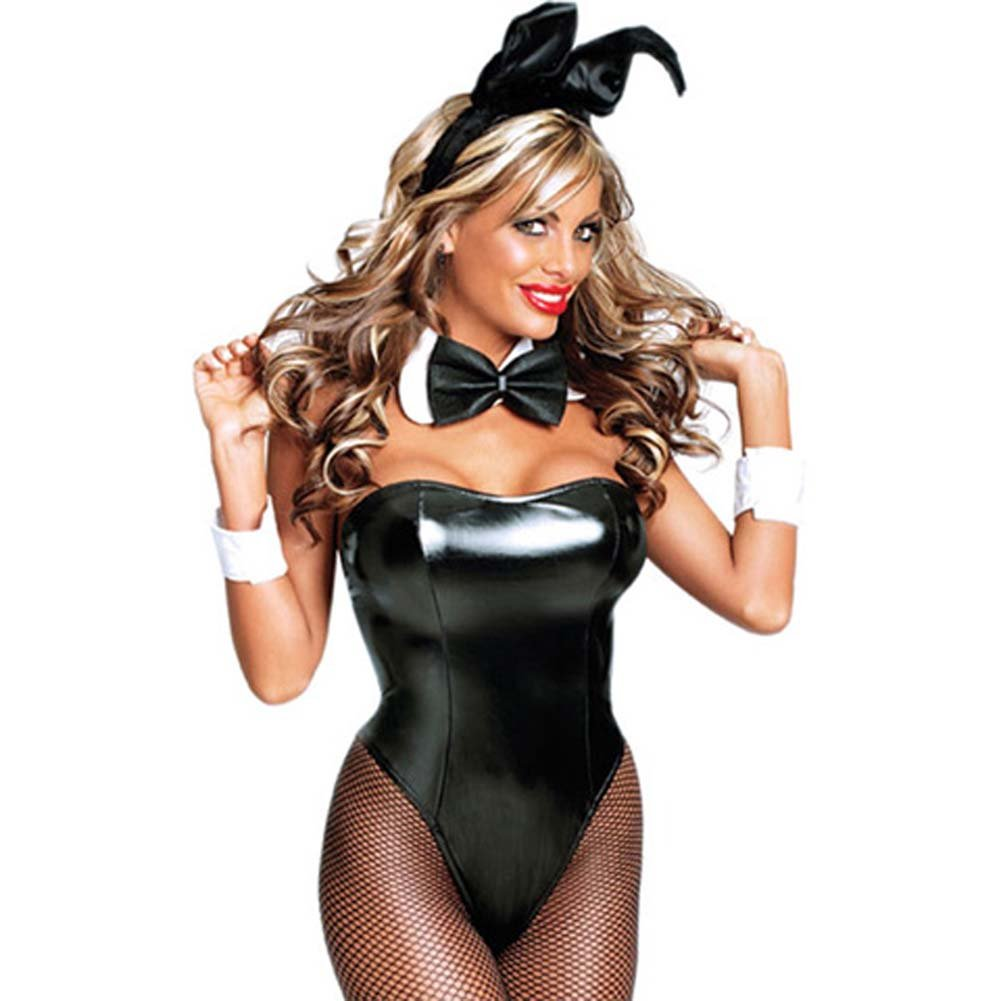 Club Bunny Costume Large Black - View #1
