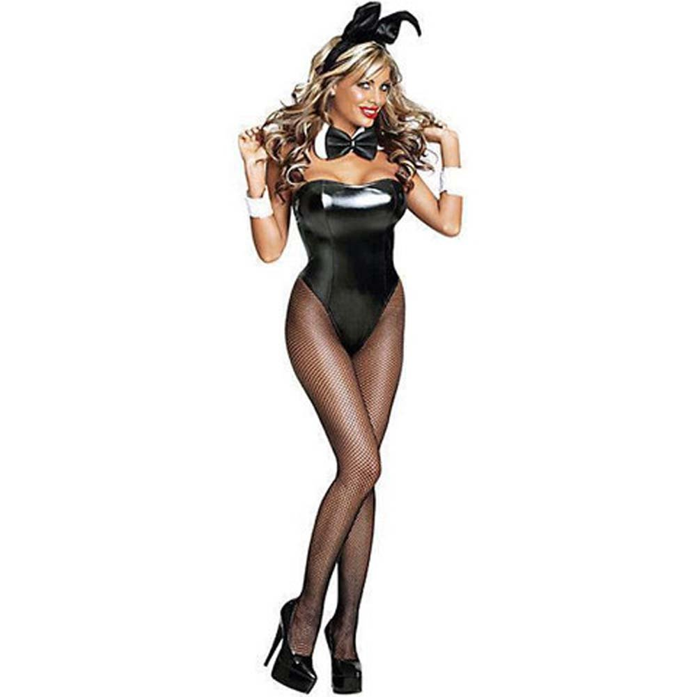 Club Bunny Costume Large Black - View #3
