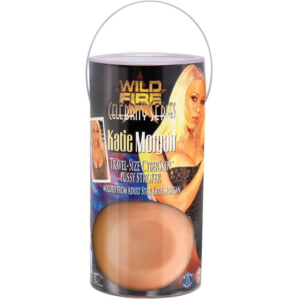 Wildfire Celebrity Katie Morgan Travel Size CyberSkin Pussy Stroker - View #1