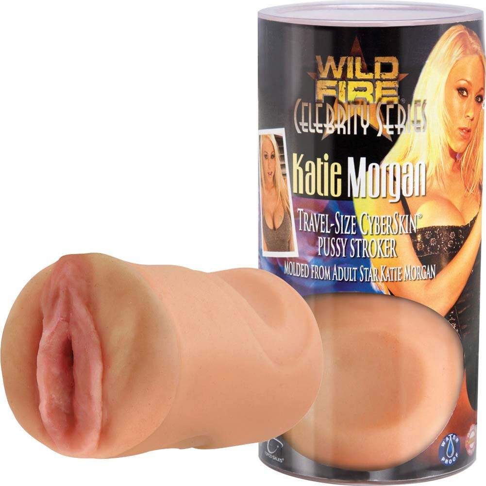 Wildfire Celebrity Katie Morgan Travel Size CyberSkin Pussy Stroker - View #3