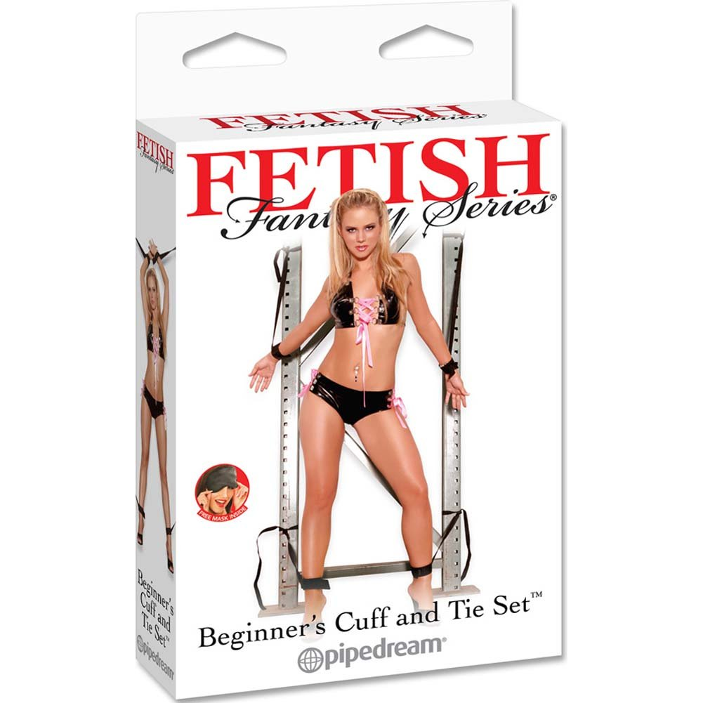 Fetish Fantasy Series Beginners Cuff and Tie Set with Free Love Mask - View #4