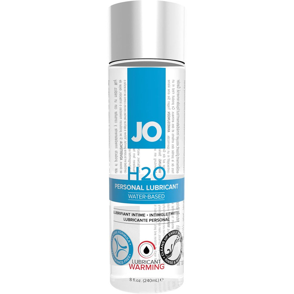 JO H2O Warming Personal Water Based Lubricant 8 Fl. Oz. - View #1
