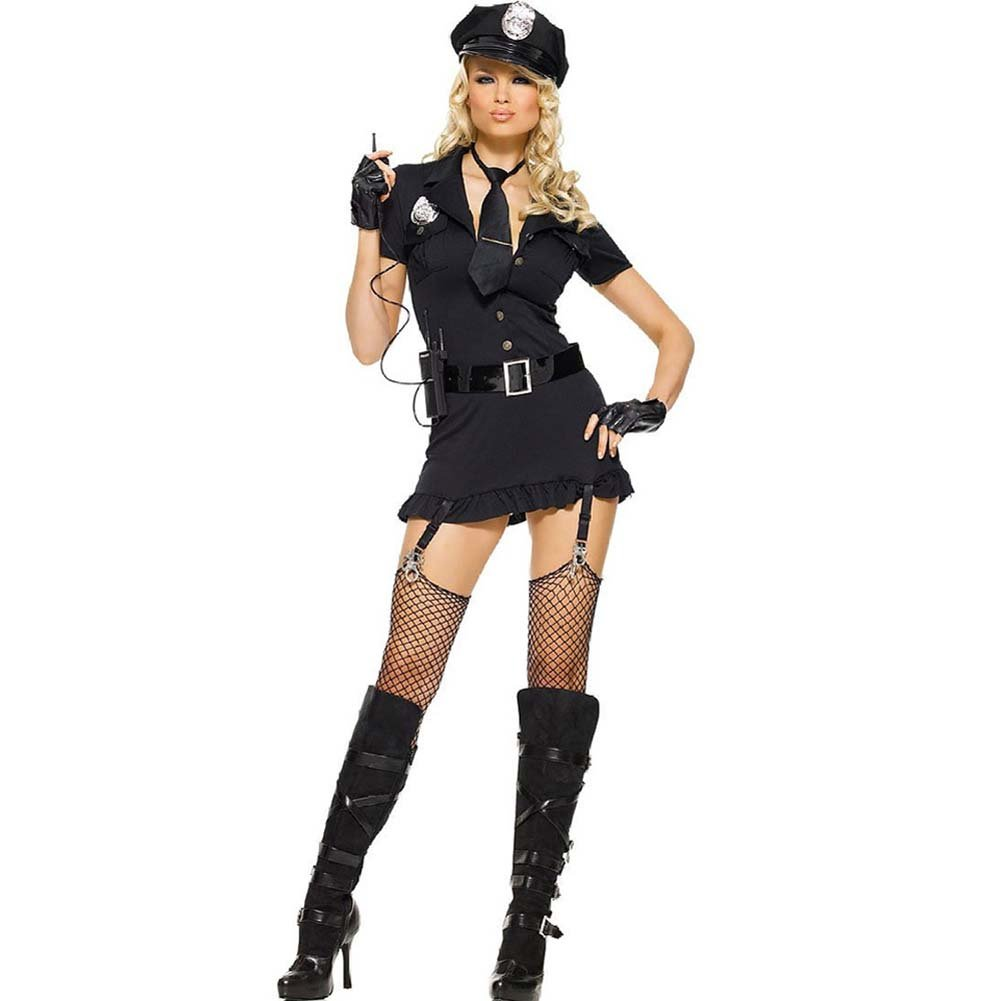 Dirty Cop Costume Set Medium/Large Black - View #2