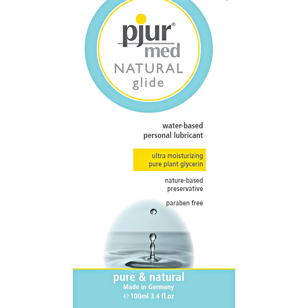 Pjur Med Natural Glide Water Based Personal Lubricant 3.4 Fl.Oz 100 mL - View #1