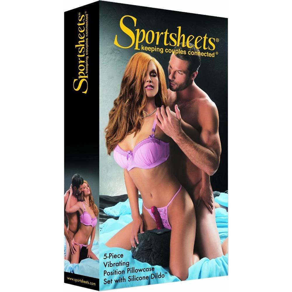 Sportsheets 5 Piece Vibrating Pillowcase Set with Silicone Dildo - View #1