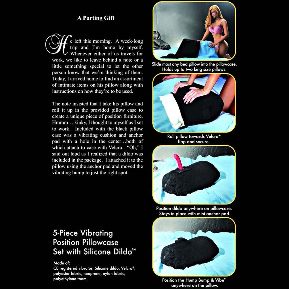Sportsheets 5 Piece Vibrating Pillowcase Set with Silicone Dildo - View #3