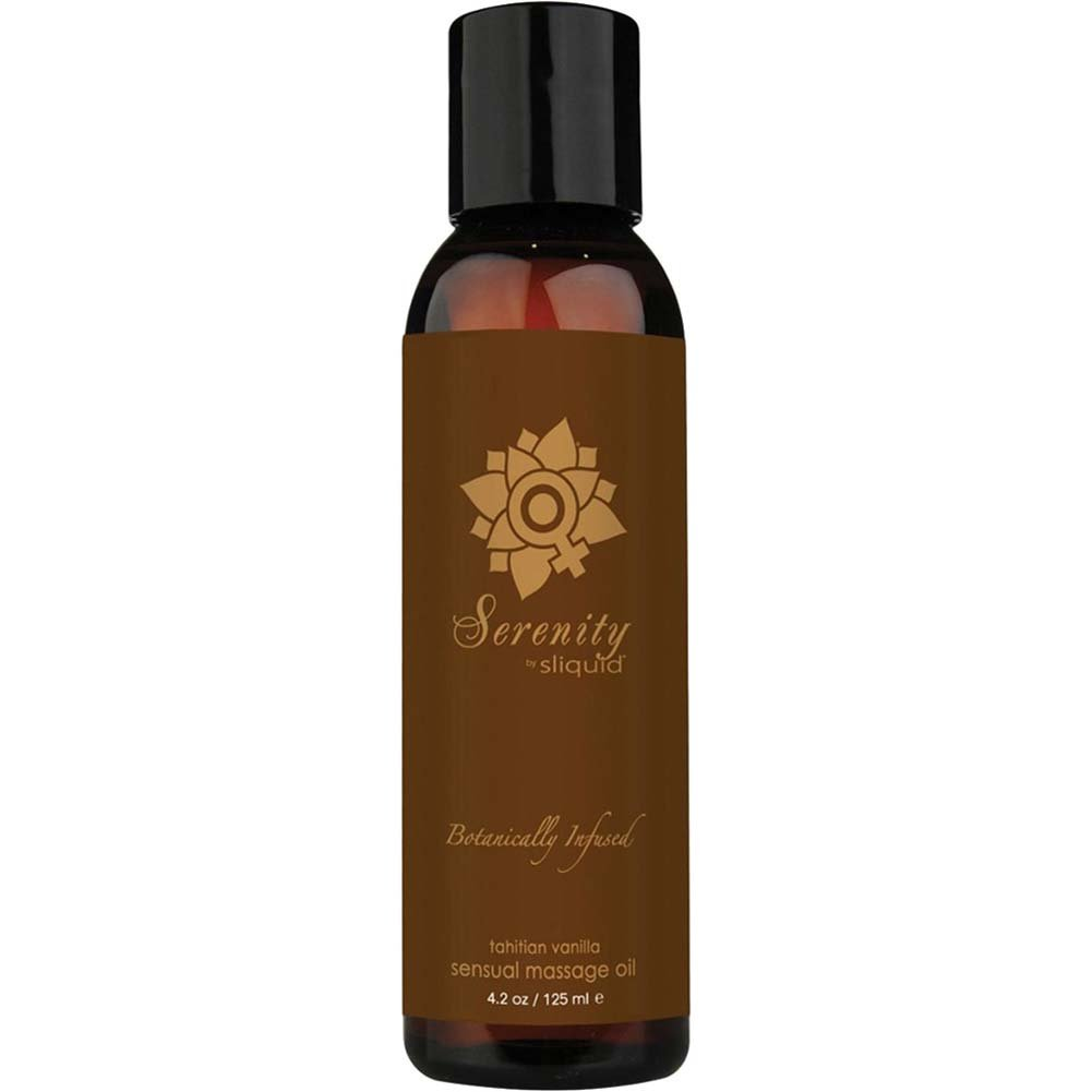 Sliquid Organics Massage Oil 4.2 Fl. Oz. Serenity Tahitian Vanilla - View #1
