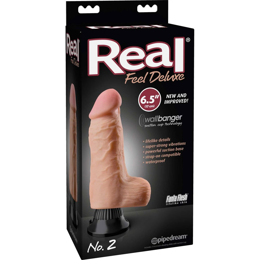 "Real Feel Deluxe 2 - Thick Realistic Vibe 6.5"" Natural - View #1"