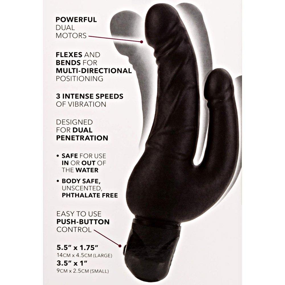 "California Exotics Bendie Power Stud Over Under Intimate Vibrator 7"" Black - View #1"