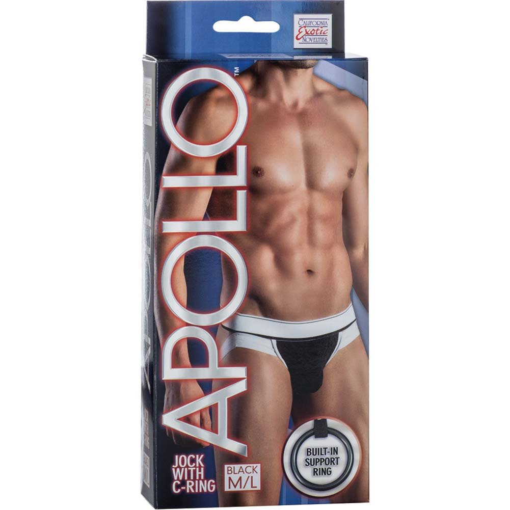 California Exotics Apollo Jock with C-Ring Black Medium/Large Size - View #1