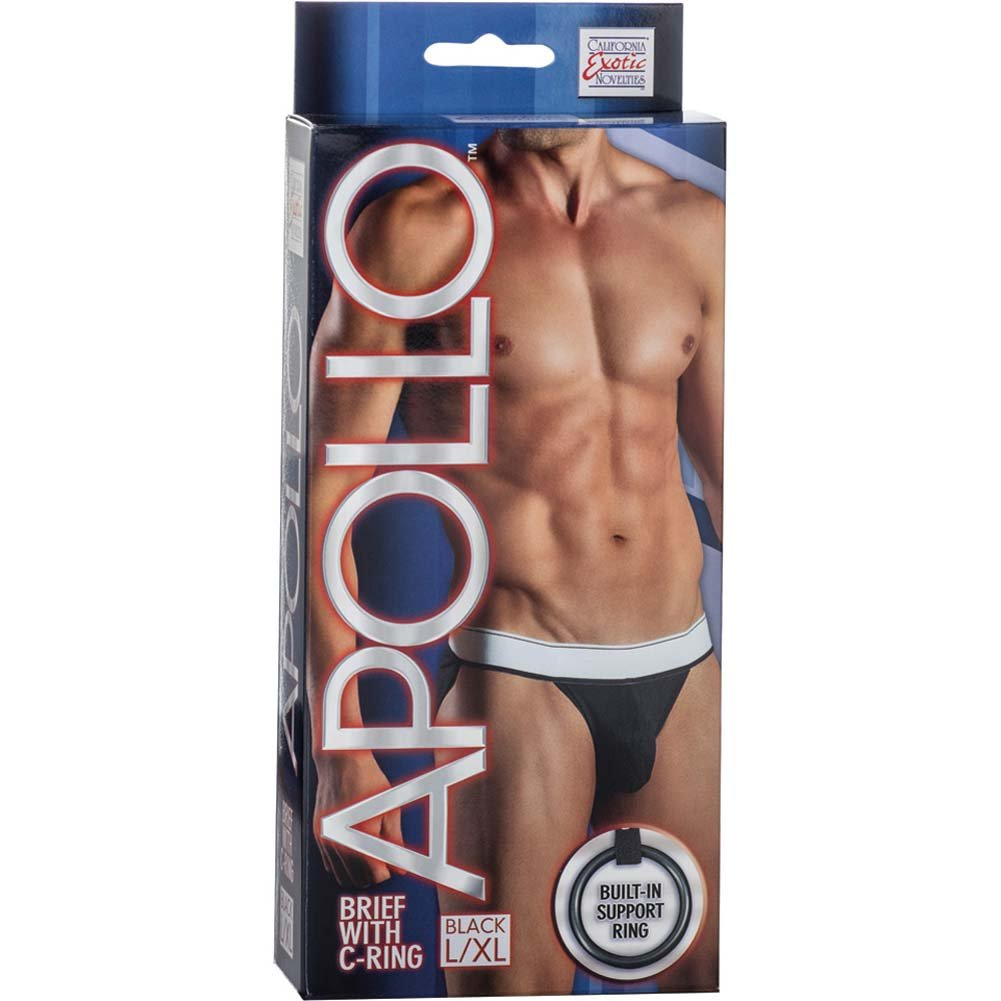 California Exotics Apollo Brief with C-Ring Black Large/Extra Large Size - View #1