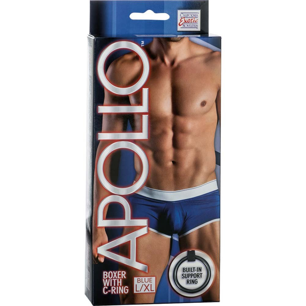 California Exotics Apollo Boxer with C-Ring Blue Large/Extra Large Size - View #1