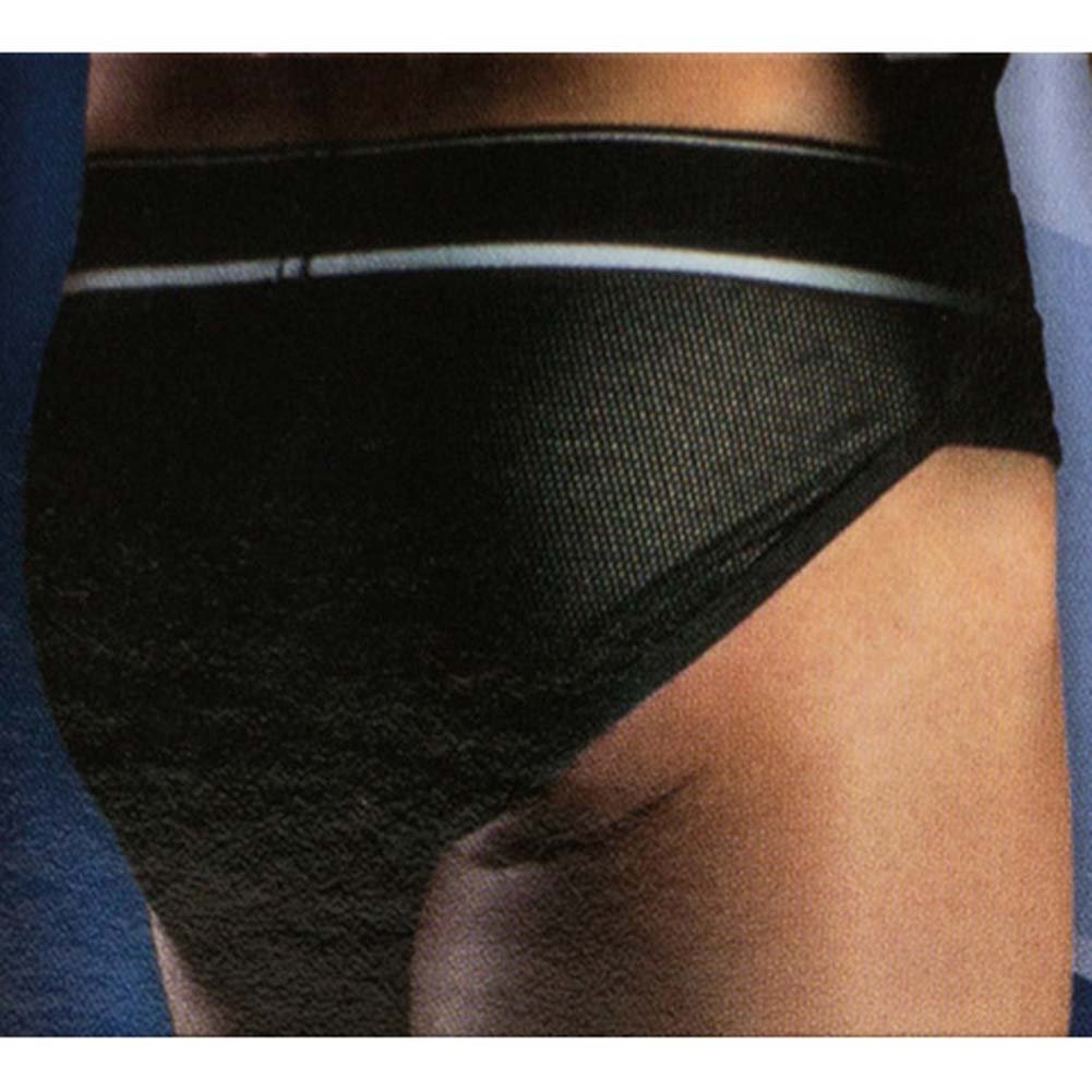 California Exotics Apollo Mesh Brief with C-Ring Black Medium/Large Size - View #2