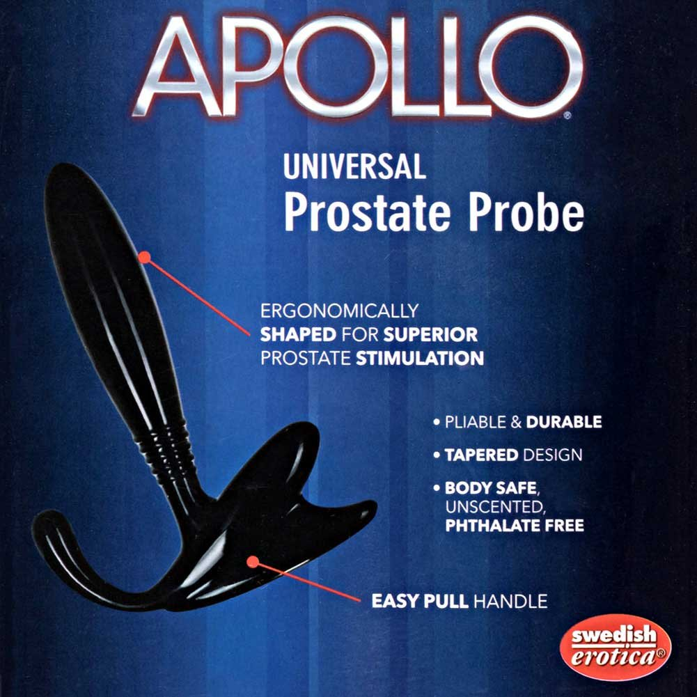 "California Exotics Apollo Universal Prostate Probe for Men 5"" Black - View #1"