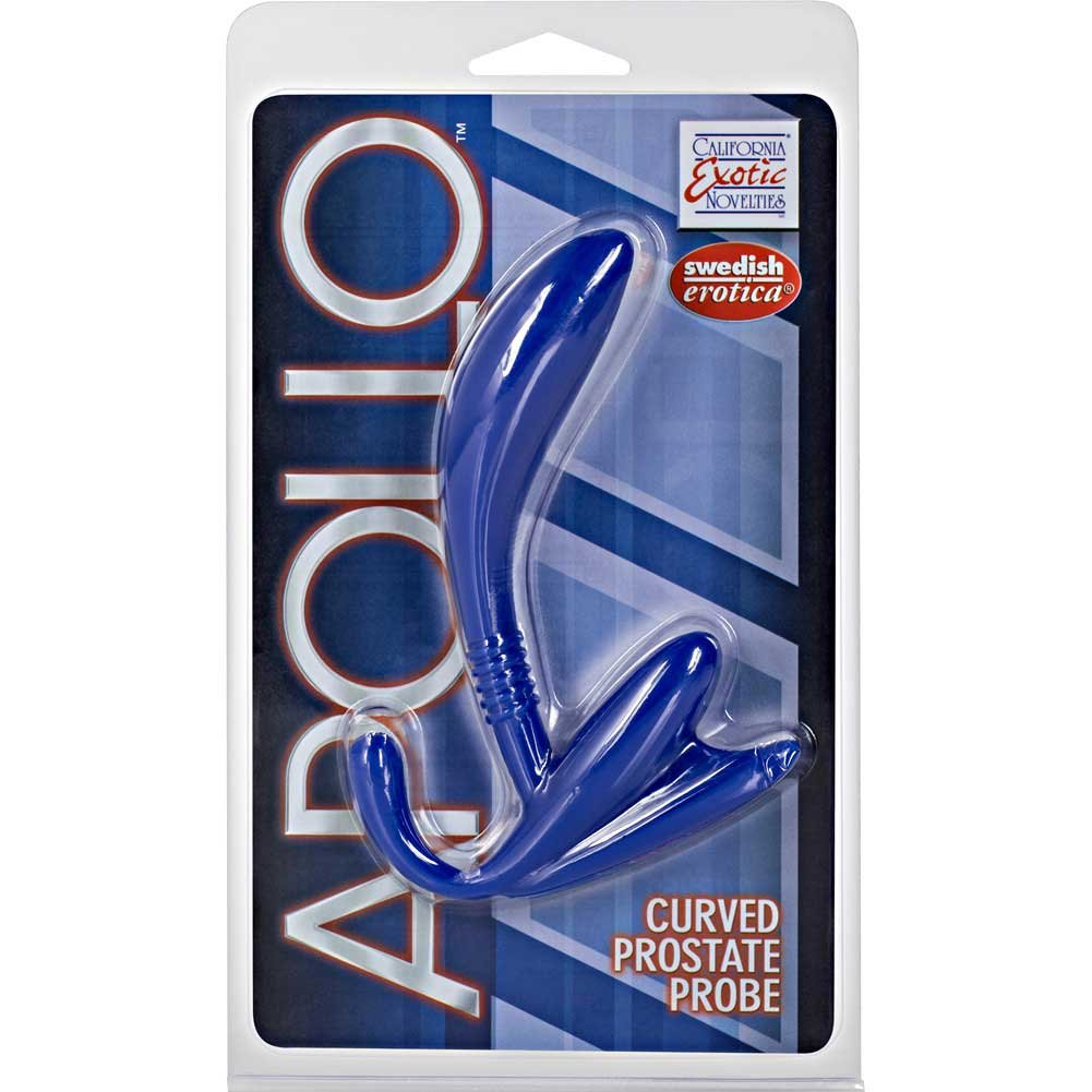 "California Exotics Apollo Curved Prostate Probe 4.75"" Blue - View #4"