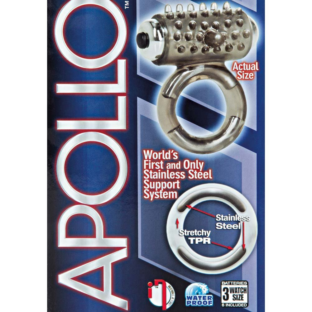 Apollo 7-Function Premium Vibrating Enhancer Cockring Smoke - View #1