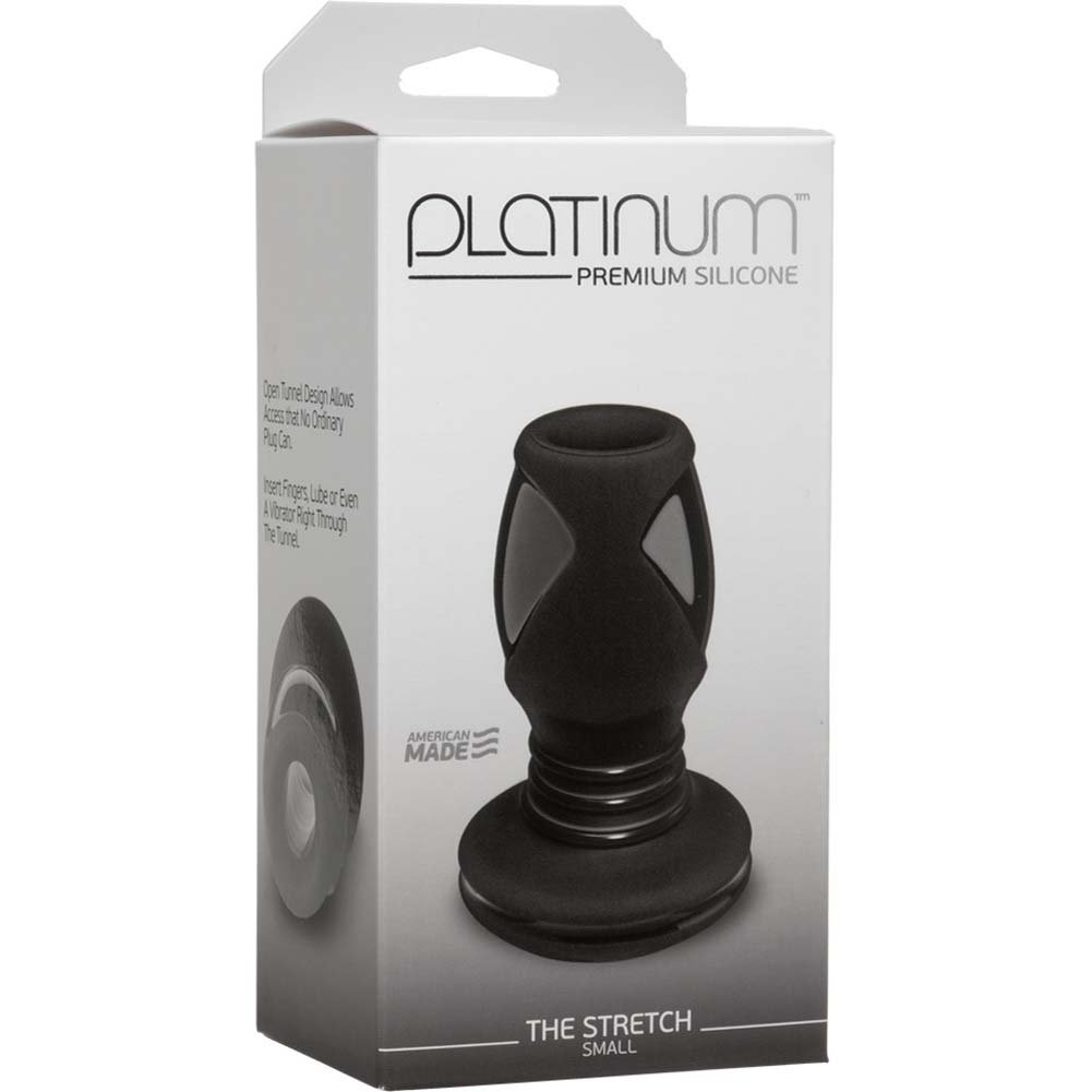 "Platinum Premium Silicone The Stretch Small Butt Plug 3.5"" Black - View #1"