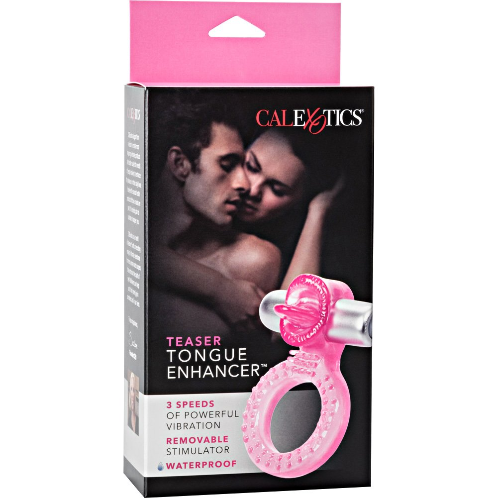 Teaser Tongue Waterproof Enhancer Vibrating Ring Pink - View #4