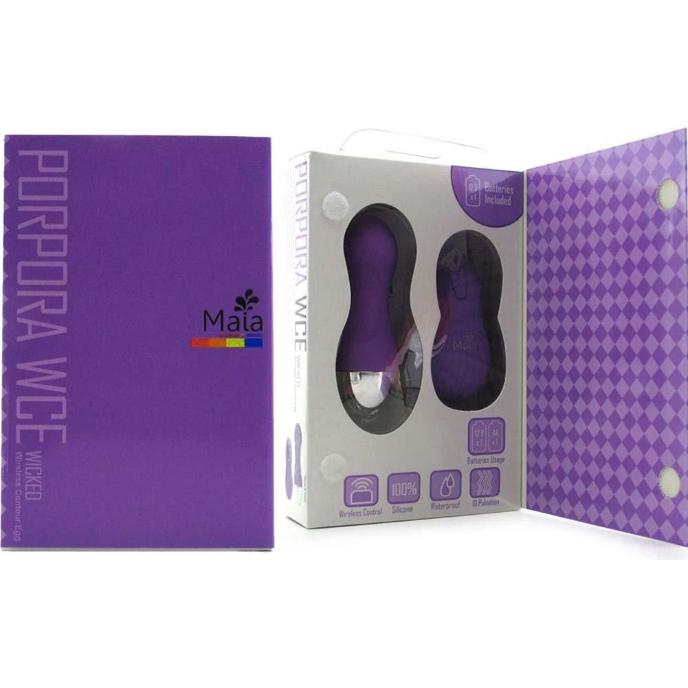 """Maia Porpora WCE Wicked Wireless Contour Silicone Egg 4"""" Neon Purple - View #3"""