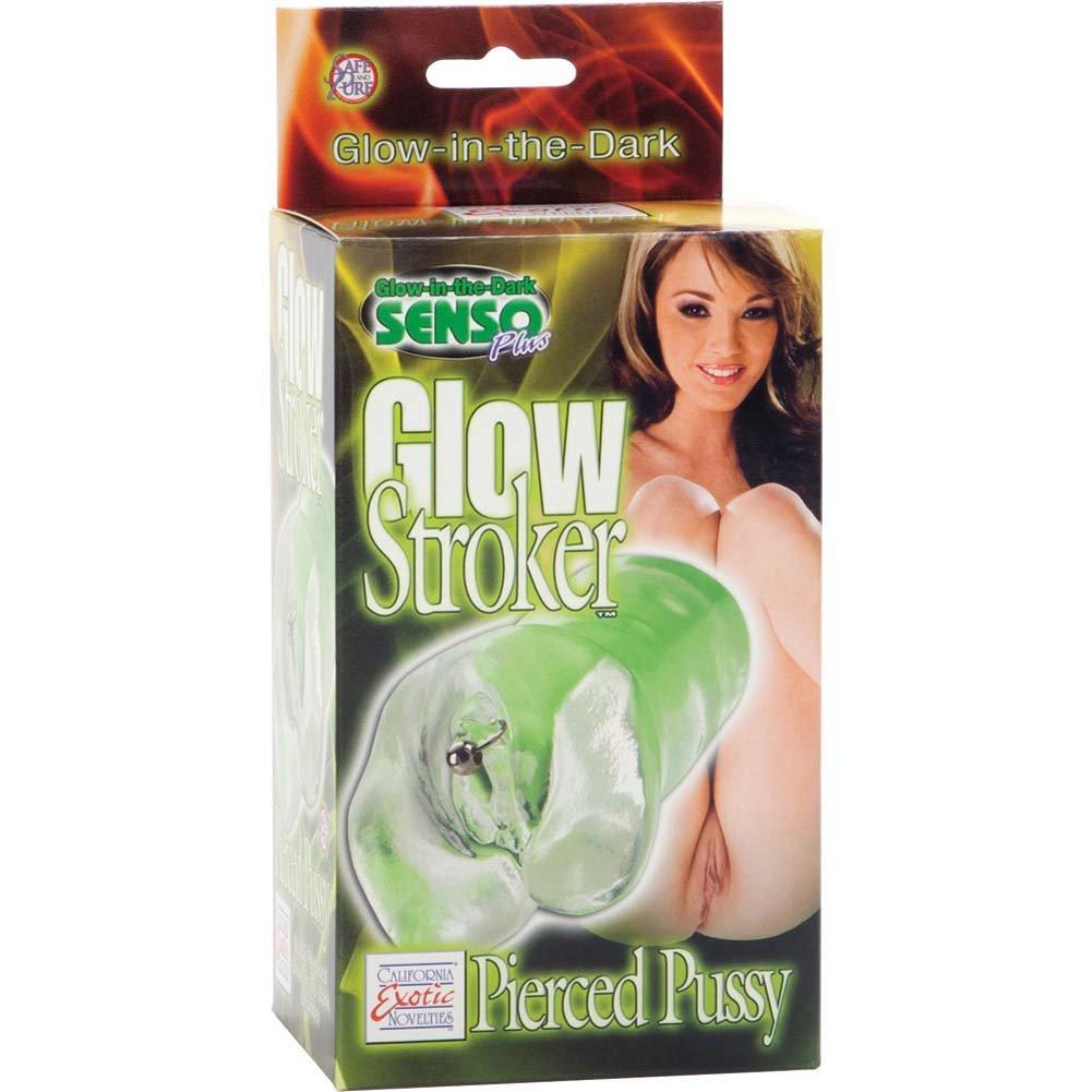 Glow Stroker Pierced Pussy Male Masturbator - View #1