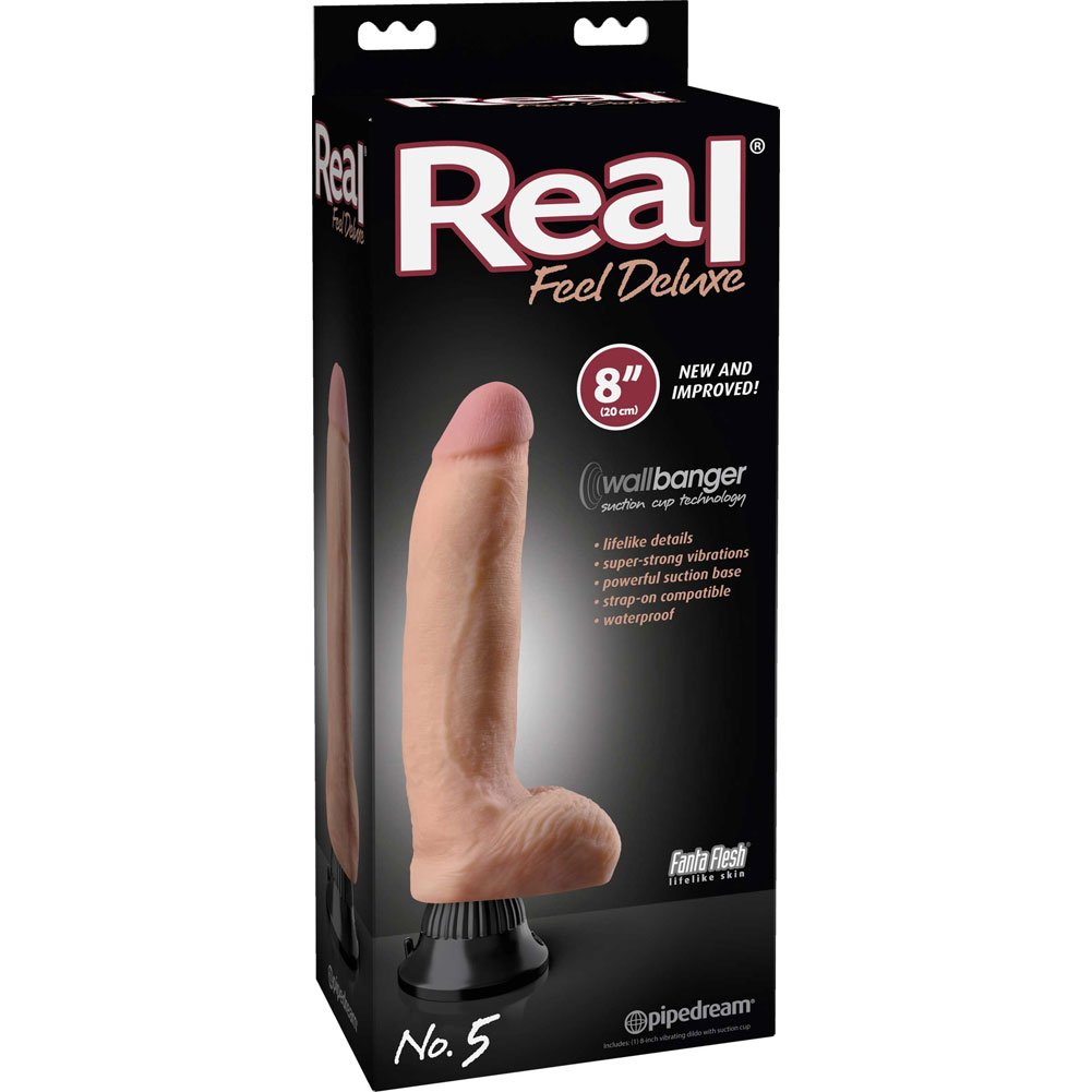 "Real Feel Deluxe 5 - Thick Realistic Vibe 8"" Natural - View #1"