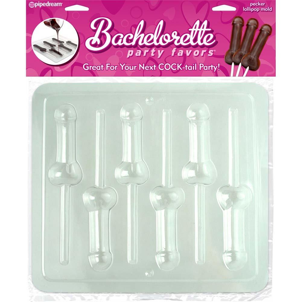 Bachelorette Party Favors Pecker Lollipop Mold Clear - View #4