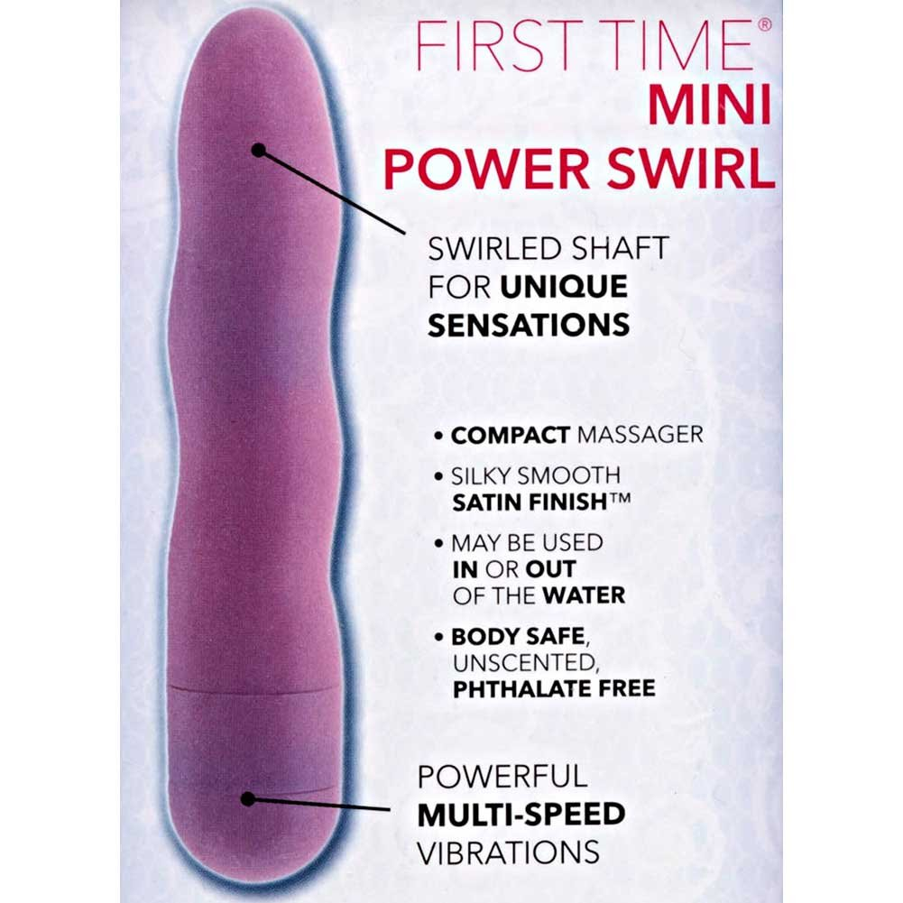 "California Exotics First Time Personal Mini Power Swirl Vibe 4.5"" Romantic Pink - View #1"