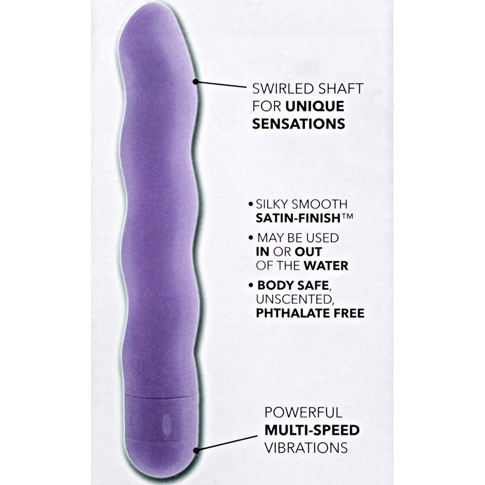 "California Exotics First Time Power Swirl Intimate Vibrator 6"" Sexy Purple - View #1"