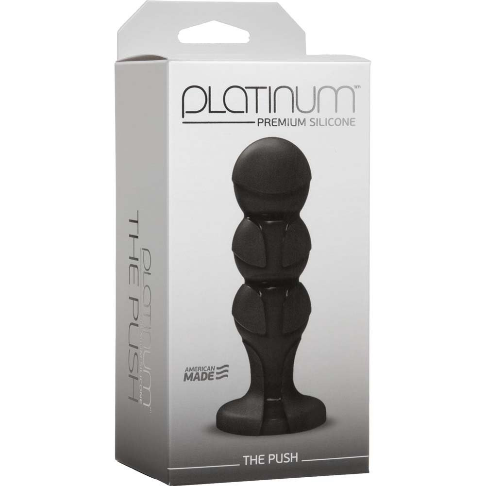 "Platinum Premium Silicone the Push Butt Plug 4.75"" Black - View #1"