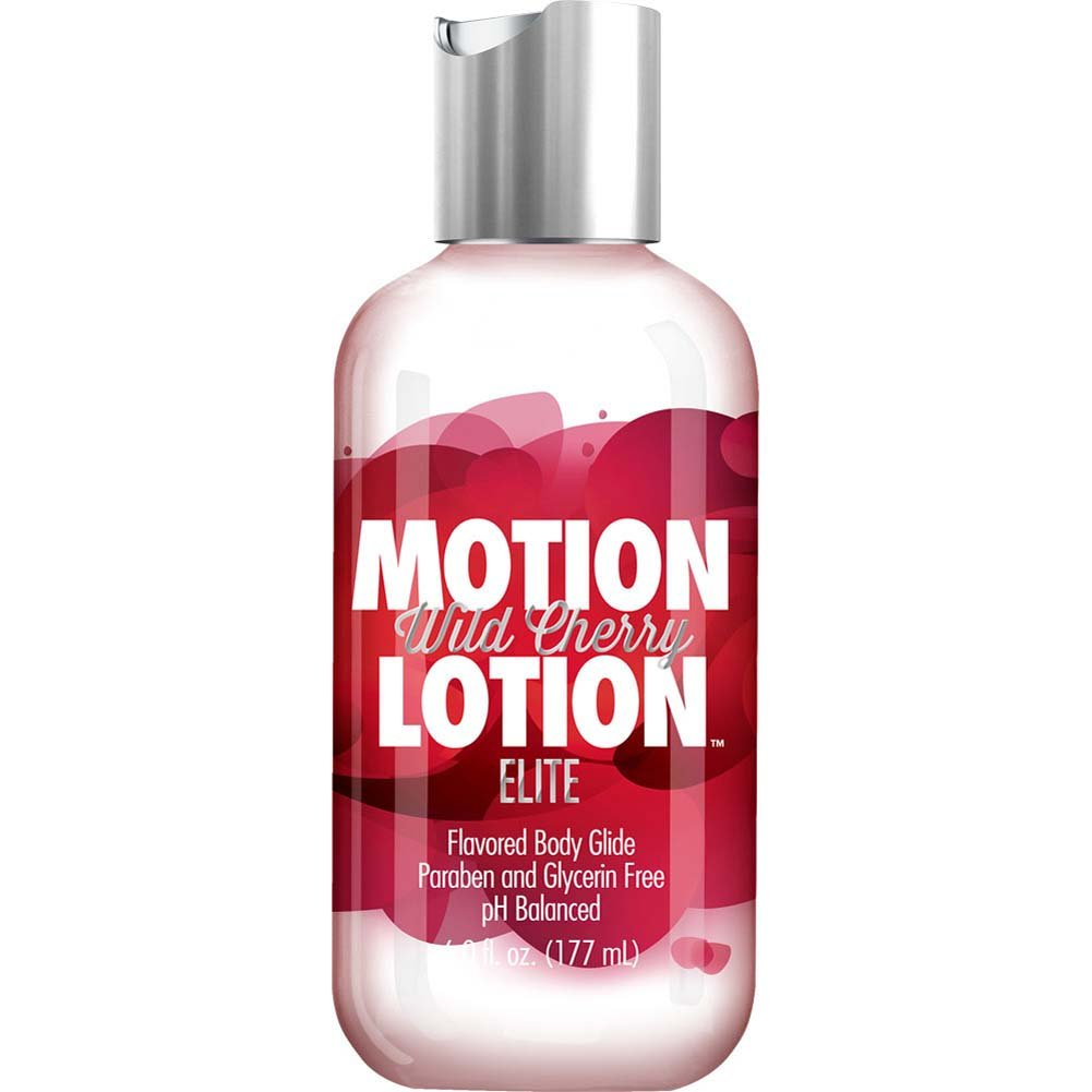 Motion Lotion Elite Flavored Body Glide Lubricant 6 Fl.Oz 177 mL Wild Cherry - View #1