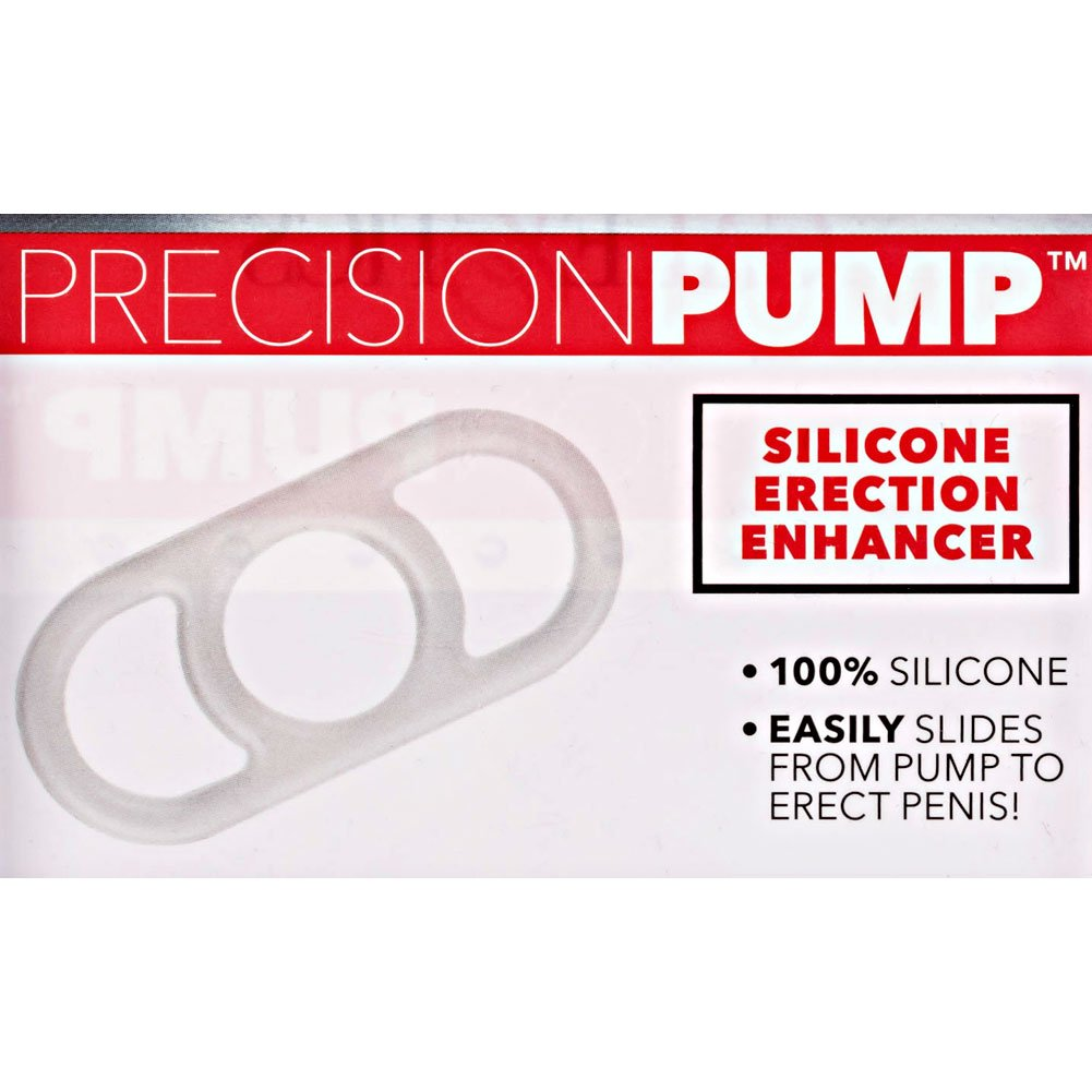 Precision Pump Silicone Erection Enhancer Cock Ring Clear - View #1