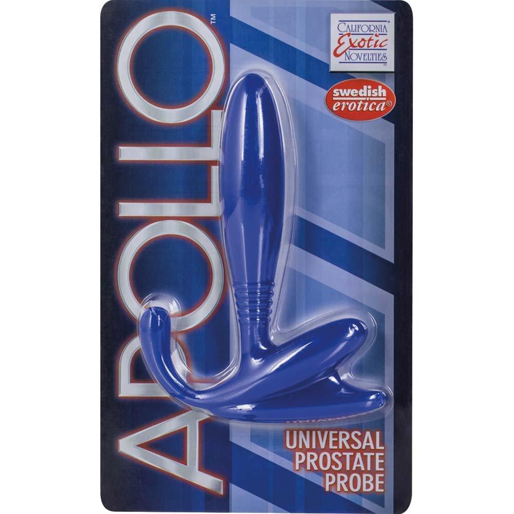 """California Exotics Apollo Universal Prostate Probe for Men 5"""" Blue - View #4"""