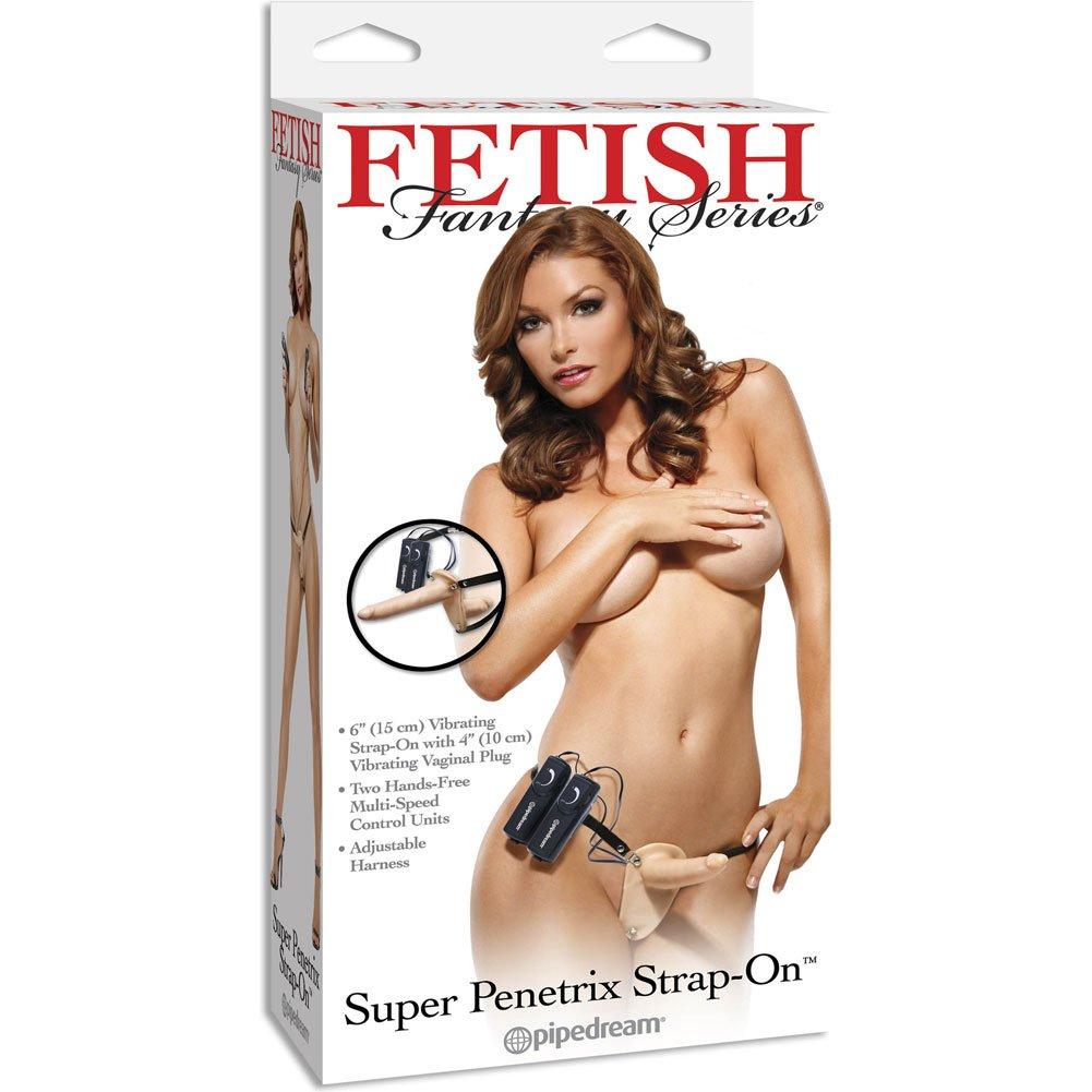 "Fetish Fantasy Series Vibrating Super Penetrix Strp-On 6"" Natural - View #4"