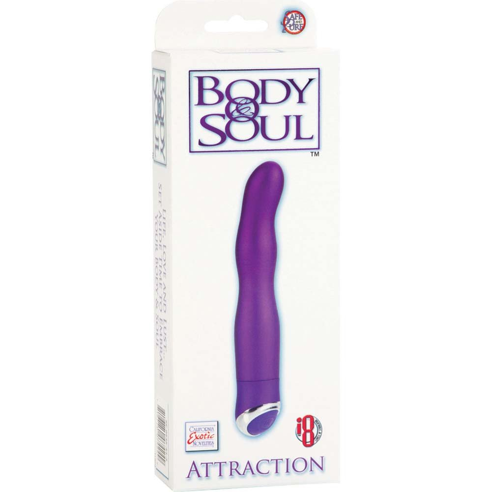 "California Exotics Body and Soul Attraction G-Spot Vibe 6"" Purple - View #1"