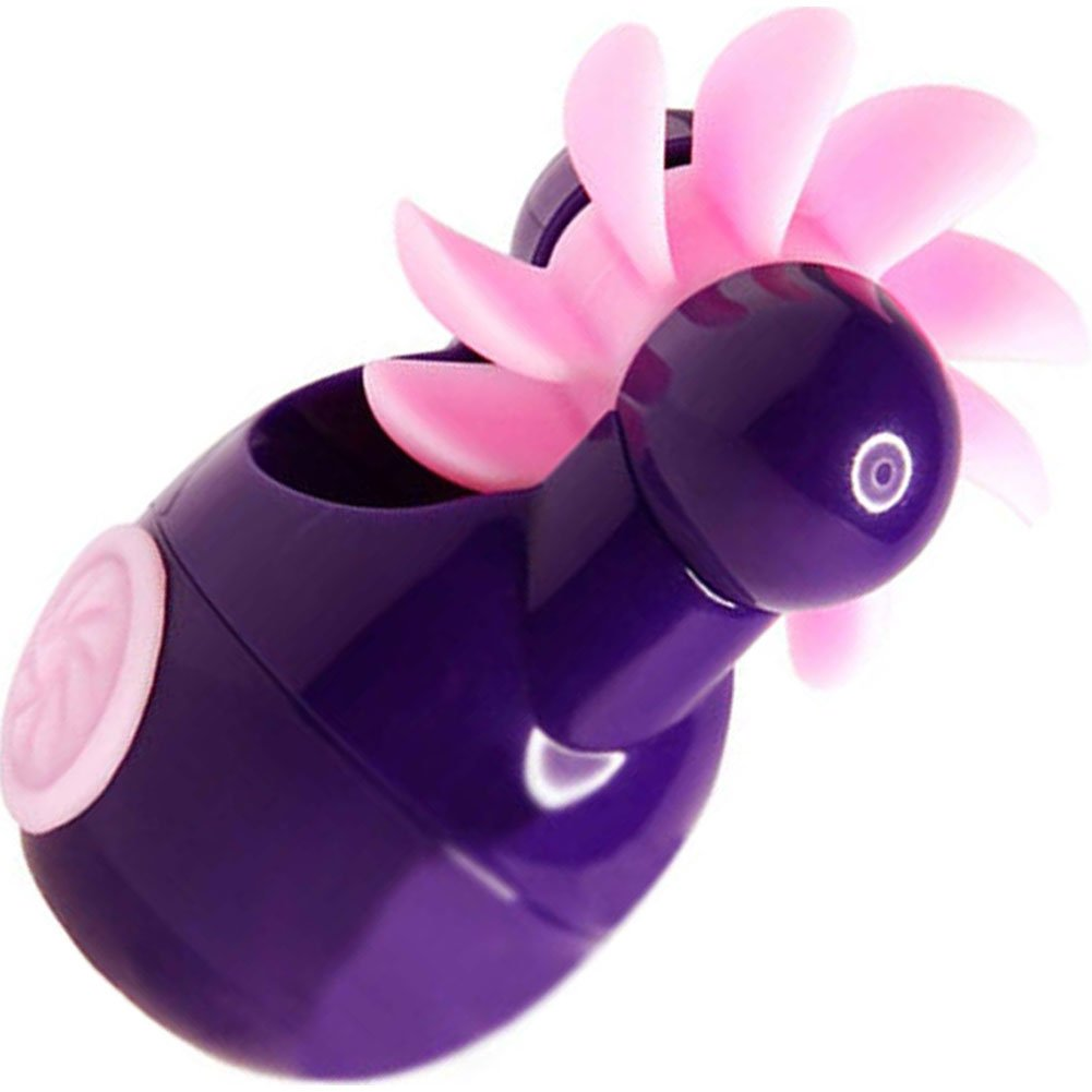 Sqweel GO Rechargeable Oral Sex Simulator for Women Purple - View #2