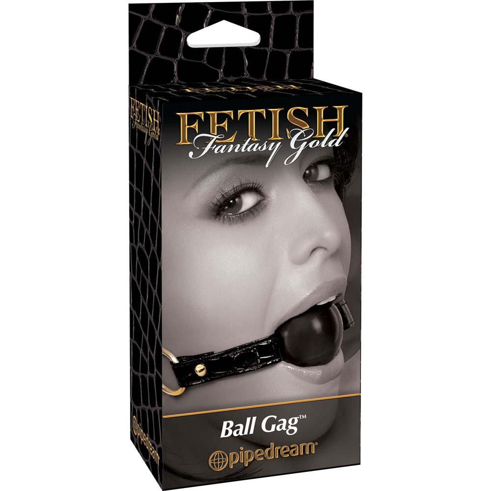 Fetish Fantasy Gold Ball Gag Black - View #1